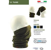 Многофункциональная повязка-бафф  Xtube цвет олива XT-HDVR-XT-B