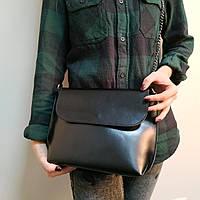 """Женская кожаная сумка """"Патрисия  Black"""", фото 1"""