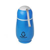 Термобутылочка Пингвин с секретиком (голубой) Идея подарка! Новый год