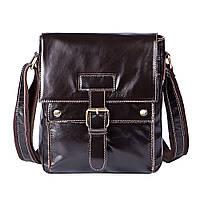 Мужская стильная коричевая сумка