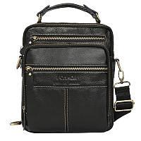 Мужская стильная сумка черного цвета