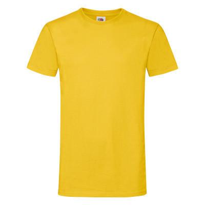 Яркая молодежная хлопковая футболка желтого цвета - S, M, L, 3XL