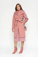 """Женское розовое пальто """"Валерия"""", зима"""