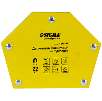 Магнит для сварки, трапеция, 22 кг Sigma