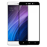 Защитное стекло для Xiaomi Redmi 4A Ксиоми Сяоми редми 4А клеится по всей поверхности черное Full Glue 2.5D