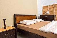 Кровать деревянная двухспальная Сити с изножьем 160*200 см с ламелями без матраса