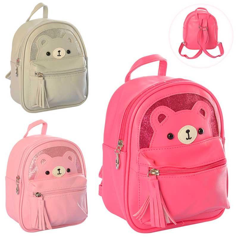 Рюкзак для девочки (с мишкой) MK 2914