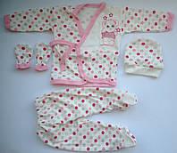 Подарочный набор для новорожденных мишка 4 единицы розовый, фото 1