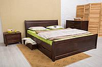 Кровать деревянная двухспальная Сити 160*200 см с ящиками без матраса