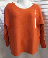 Свитер/ блуза с пуговицами на рукавах женский полубатальный (ПОШТУЧНО)