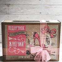"""Подарочный набор с кофе, печеньем и шоколадом """"Жіночий"""""""