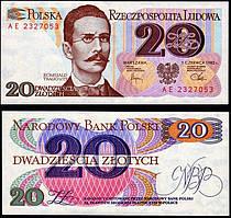 Польша 20 злотых 1982 UNC