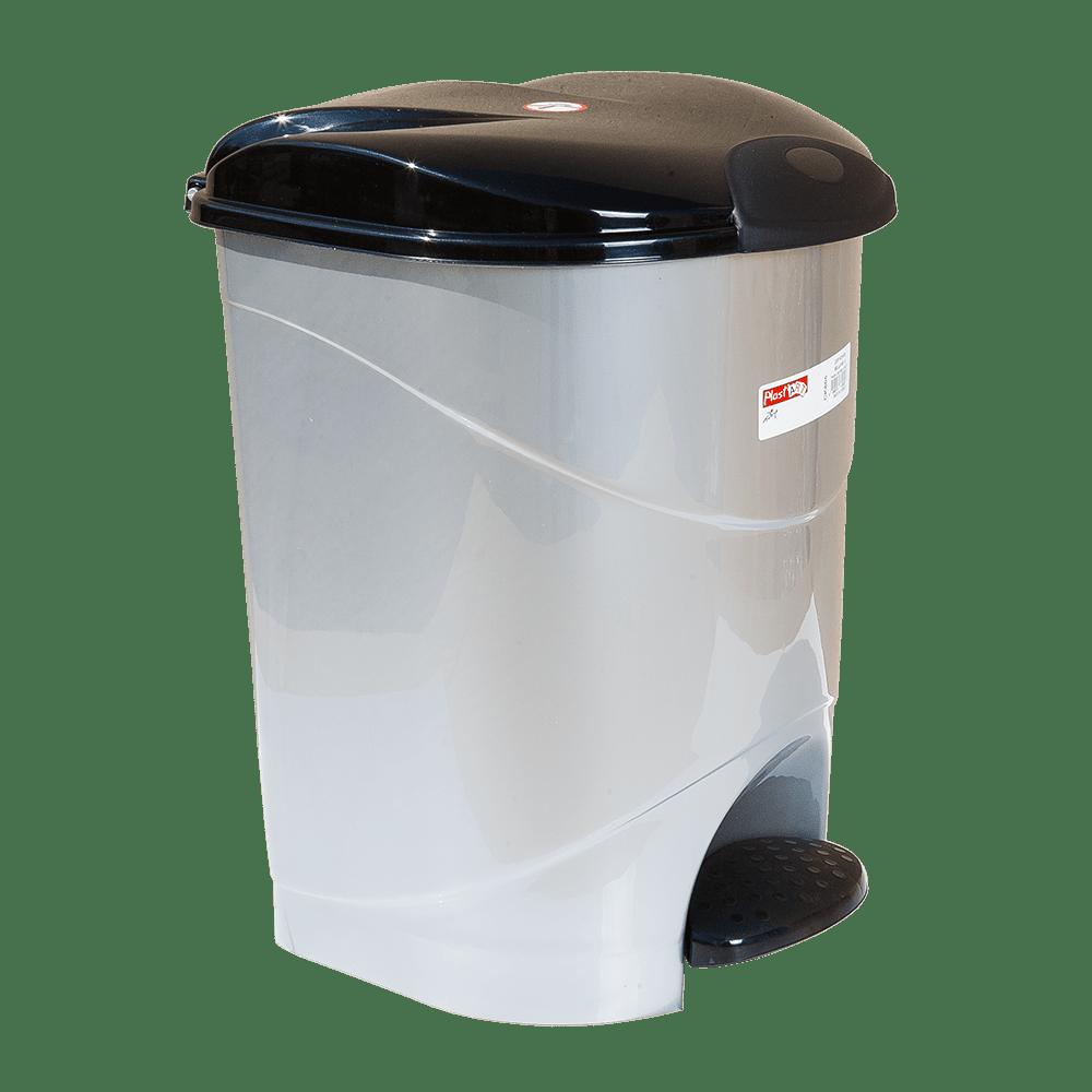Ведро для мусора с педалью Irak Plastik Bella №2 19л серый металлик