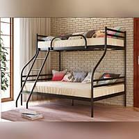Металлическая кровать Смарт двухярусная трех местная 90*200+140*200