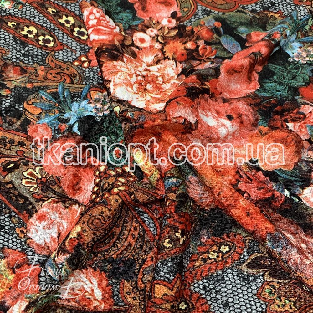 Ткань Трикотаж Ангора принт