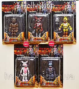 Набор фигурок Кошмарные Аниматроники из игры Пять Ночей с Фредди в индивидуальных упаковках ФНаФ 15см