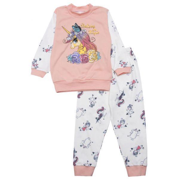 Пижама -домашний комплект для девочки на манжетах