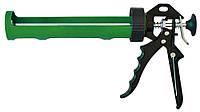 Пистолет для герметика полуоткрытый пластмассовый металлическая ручка Favorit 12-021 | Пістолет для герметика