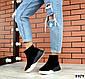 Зимние черные женские ботинки натуральная замша, фото 3