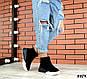 Зимние черные женские ботинки натуральная замша, фото 5
