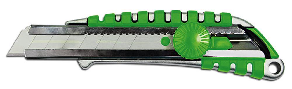 Ніж з обертовим фіксатором зміцнений металевий 18мм Colorado 13-605  |нож строительный Colorado 13-605 канцелярский