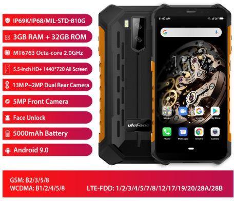 Мобильный телефон Ulefone Armor X5 3/32 NFC