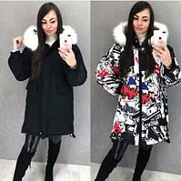 Оригинальная зимняя двусторонняя куртка 2019/20, разные цвета