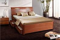 Кровать деревянная двухспальная Мария 160*200 см с ящиками без матраса