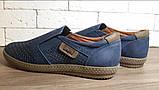 Кожаные мужские туфли Levis (model - 29) синие (перфорация), фото 3