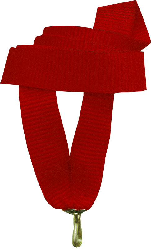 "Лента для медали ""красная"" 15 мм"