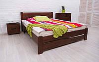 Кровать деревянная двухспальная Айрис с изножьем 160*200 см с ламелями без матраса