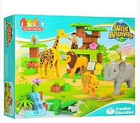 Конструктор JDLT 5286 Зоопарк, 83 Большие детали, копия Lego Duplo