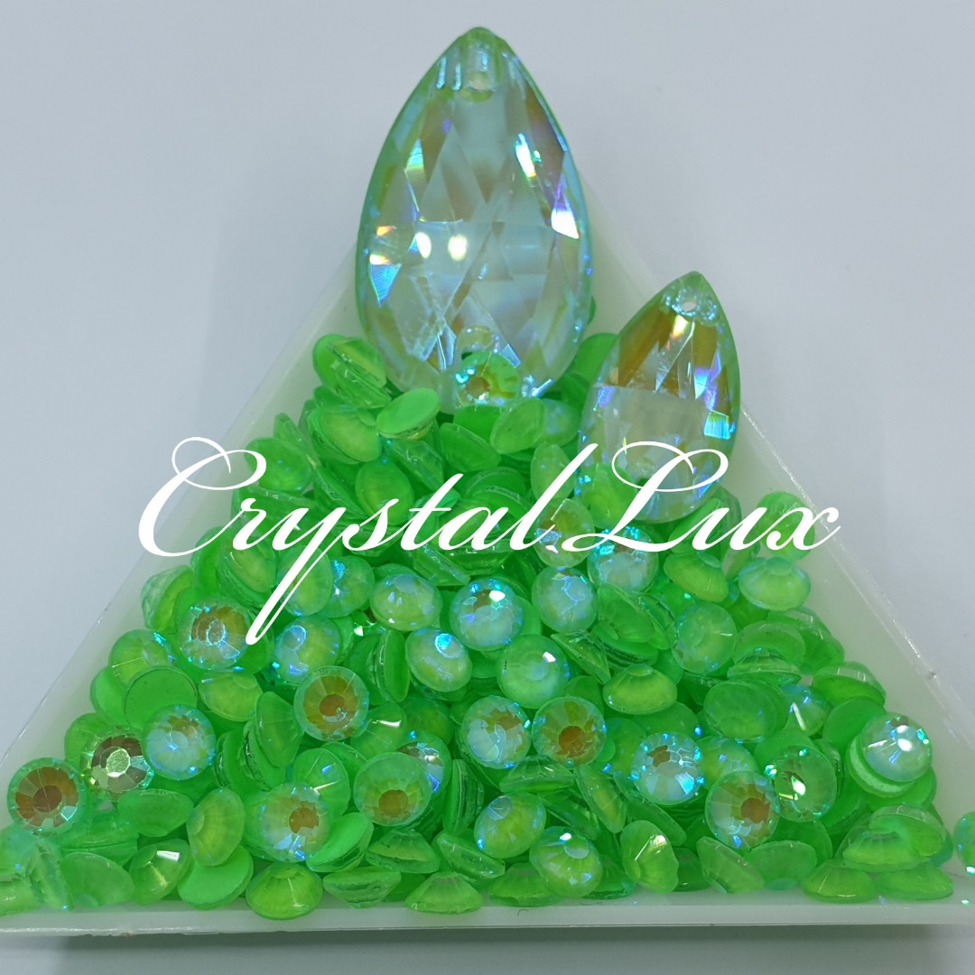 Стрази ss20 Crystal Electric Green DeLite 100шт, (5.0 мм)