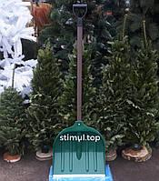 Лопата для снега 41х43 см Пластиковая лопата снегоуборочная Лопата снігова зелена