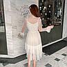 Легкое нарядное платье сеточка 42-46 (в расцветках), фото 9