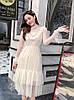 Легкое нарядное платье сеточка 42-46 (в расцветках), фото 4