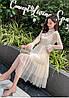 Легкое нарядное платье сеточка 42-46 (в расцветках), фото 8