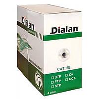 Кабель сетевой Dialan FTP 305м КНПЭ 4*2*0,50 [СU] ПВХ+ПЭ, Black (10563)