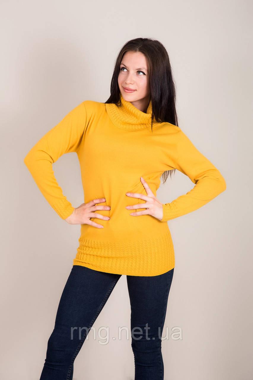 Подовжений жіночий светр з горлом Туреччина