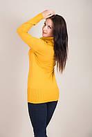 Удлиненный женский свитер с горлом Турция, фото 3