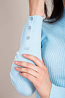 Жіночий гольф рубчик з гудзиками на рукавах Туреччина, фото 3