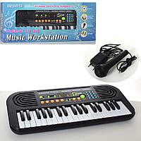 Синтезатор HL3755USB (24шт) 37 клавиш, микрофон, запись,муз,на бат-ке/от сети, в кор-ке,54-23-7,5см