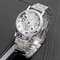 Металлические мужские часы с открытым механизмом