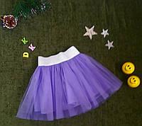 Юбка из евросетки на 6-9 лет, лаванда