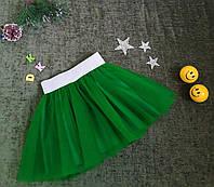 Юбка из евросетки на 6-9 лет, зелёная