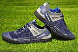 Мужские кроссовки Salomon синие  натуральная кожа замша, фото 2