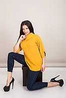 Подовжений жіночий светр з коміром Туреччина, фото 3