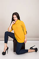 Удлиненный женский свитер с отложным воротником Турция, фото 3