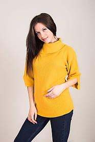 Удлиненный женский свитер с отложным воротником Турция