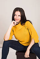 Удлиненный женский свитер с отложным воротником Турция, фото 4